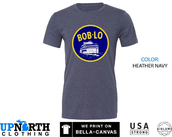 UpNorth Tee - Boblo Boat - Bob-Lo Boat - Detroit Michigan Shirt - Free Shipping