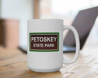 Ceramic Mug - Petoskey State Park - Michigan State Parks - 11 or 15 oz. Coffee Mugs