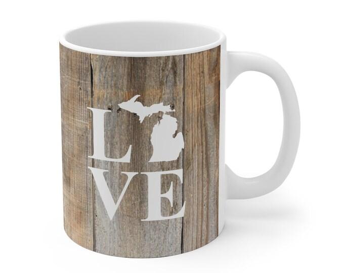 Ceramic Mug - Michigan LOVE (white)