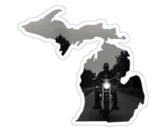 UpNorth Stickers - Motorcycle - Michigan Decal
