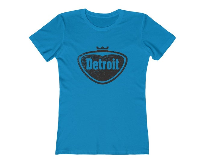 Women's Tee - Detroit - Pop Style Logo (Detroit Vintage Collection) - Detroit Michigan T-Shirt