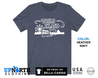 UpNorth Tee - Boblo Island Amusement Park Shirt - Bob-Lo Boat - Detroit Michigan Shirt - Free Shipping