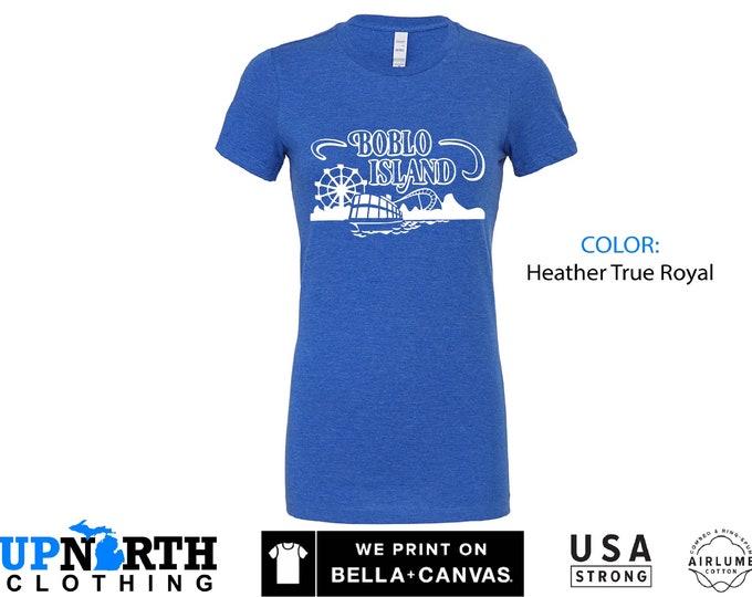 Women's Tee - Boblo Island Amusement Park - Bob-Lo Boat - Free Shipping - Michigan Vintage Shirt