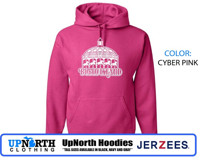 UpNorth Hoodies - Boblo Island Carousel - Detroit Michigan - Hooded Pullover Sweatshirt - Tall Sizes Available
