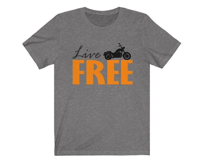 UpNorth Tee - Live Free (Motorcycle) - Free Shipping