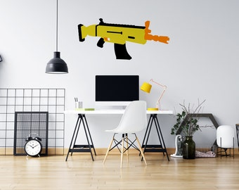 Nerf Style Toy Guns - Nerf Rifle Gun - No Pew Pew - Vinyl Wall Decal - Multiple Sizes and Colors - Free Customization