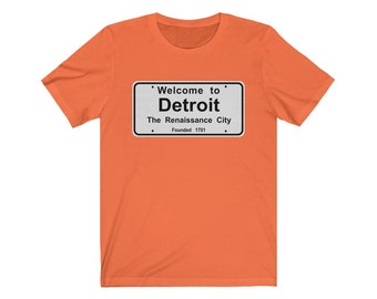 UpNorth Tee - Welcome to Detroit Sign (Standard Print) - Detroit Michigan - Motor City - Motown
