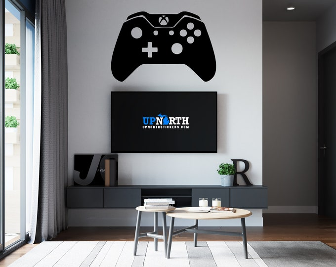 Video Game Controller - X Box Style Controller - Custom Vinyl Wall or Vehicle Decal - Free Shipping