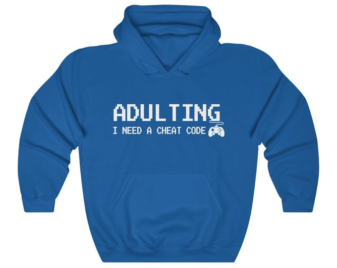 UpNorth Hoodies - Adulting Cheat Code (Gamer Edition)