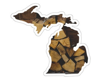 UpNorth Stickers - Wood Pile - Michigan Decal
