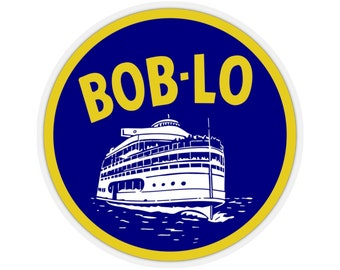 UpNorth Stickers - Boblo Boat (Vintage Michigan Collection)