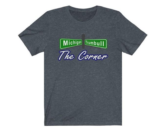 UpNorth Tee - The Corner - Michigan & Trumbull (Michigan Vintage Collection) - Tiger Stadium - Briggs Stadium - Detroit Michigan