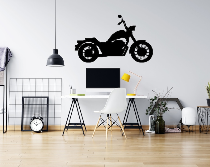 Motorcycle  - Vinyl Wall Decal - Strong Michigan Roots - Multiple Sizes and Colors - Free Customization
