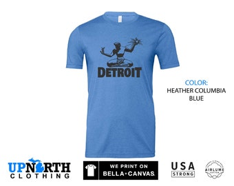 UpNorth Tee - Spirit of Detroit - Detroit Michigan Shirt - Free Shipping