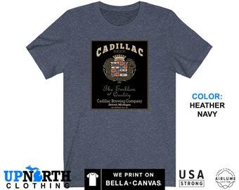 UpNorth Tee - Cadillac Brewing Co. - Detroit Michigan - Vintage Beer Shirt - Free Shipping