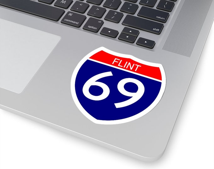 UpNorth Stickers - I-69 FLINT (Michigan Highway Sign)