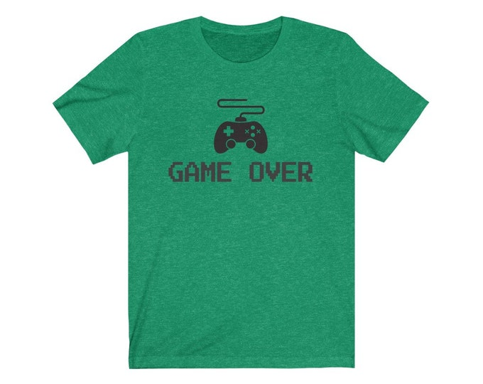 UpNorth Tee - Game Over (Gamer Edition) - Video Game Controller - Free Shipping - Gamer Shirt