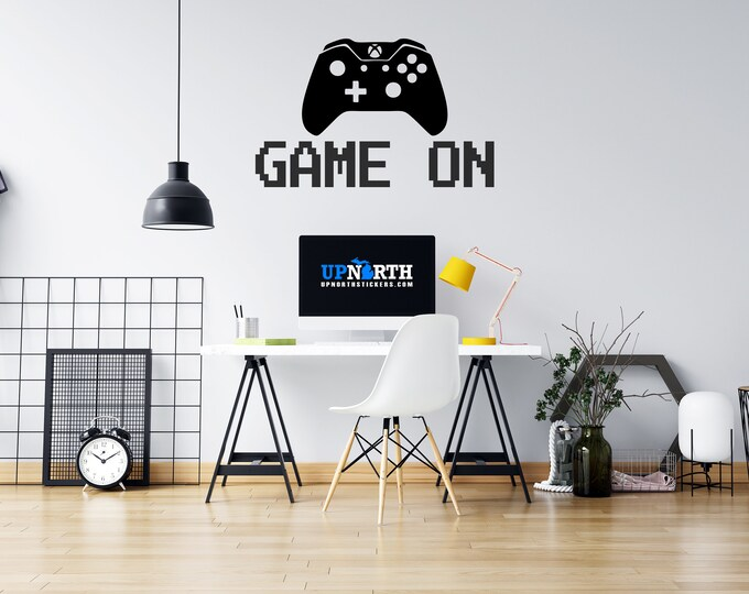 Game On - Video Game Controller - Custom Vinyl Wall or Vehicle Decal - Multiple Sizes and Colors - Free Shipping