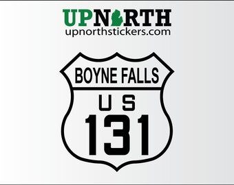 US 131 Boyne Falls -  Michigan Highways - Vinyl Decal