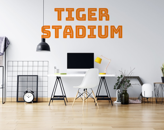 Tiger Stadium - Vinyl Wall Decal - Detroit Michigan - Multiple Sizes and Colors - Free Customization