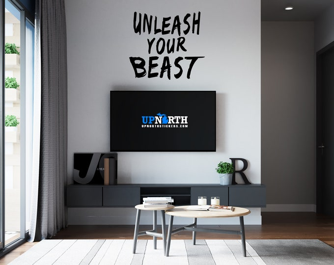 Unleash Your Beast - Vinyl Wall or Vehicle Decal - Sports Wall Decal