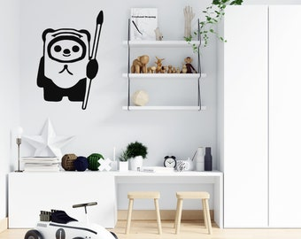 Ewok Custom Vinyl Wall or Vehicle Decal - Personalize for Free Free - Free Shipping