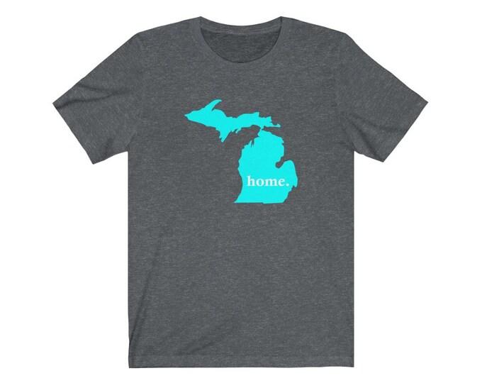 UpNorth Tee - Michigan Home (teal) - Michigan Shirt