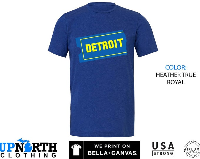 UpNorth Tee - Detroit Blockbuster - Detroit Michigan Shirt - Free Shipping