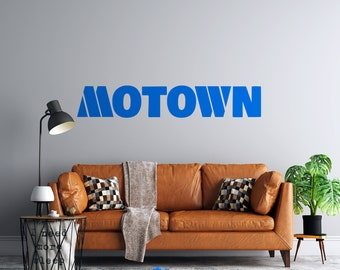 Motown - Vinyl Vehicle or Wall Decal - Vintage Detroit - Multiple Sizes and Colors - Personalize Free - Free Shipping - Detroit Michigan