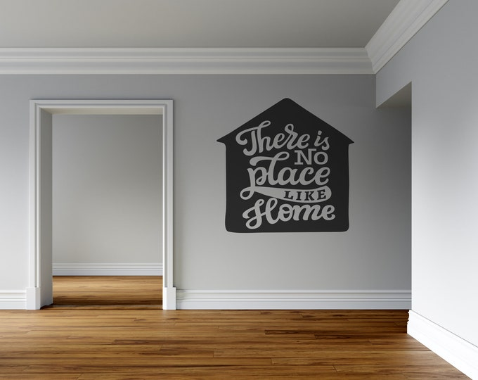 House - No Place Like Home - Custom Vinyl Wall Decal - Multiple Sizes and Colors - Personalize for Free - Free Shipping