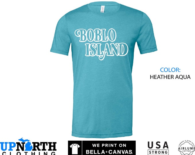 UpNorth Tee - Boblo Island - Detroit Michigan Shirt - Free Shipping
