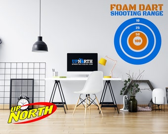 "Foam Dart Target - ""Nerf Style"" Wall  Target - Custom Vinyl Wall Decal - Multiple Sizes and Colors - Personalize for Free - Free Shipping"