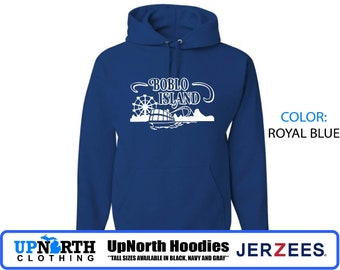 UpNorth Hoodies - Boblo Island Amusement Park- Bob-Lo Detroit Michigan - Hooded Sweatshirt - Tall Sizes Available
