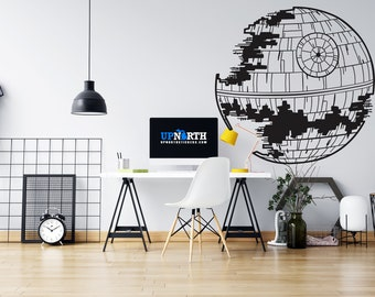 Death Star - Custom Wall or Vehicle Vinyl Decal - Free Shipping