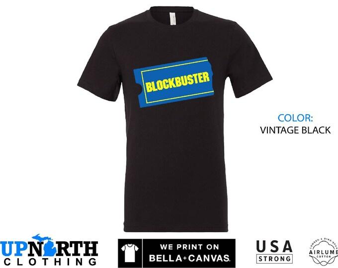 UpNorth Tee - Blockbuster Video - Retro Shirt - Free Shipping - Blockbuster Shirt