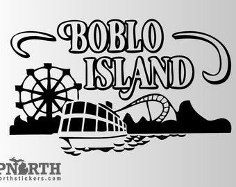 Boblo Island - Custom Vinyl Wall and Vehicle Decal - Multiple Sizes and Colors - Personalize for Free - Free Shipping