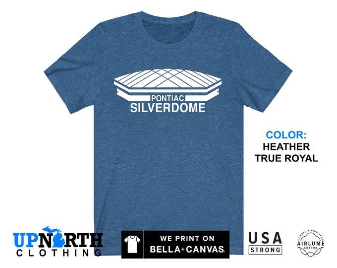 UpNorth Tee - Pontiac Silverdome Shirt - Pontiac Michigan T-Shirt - Free Shipping