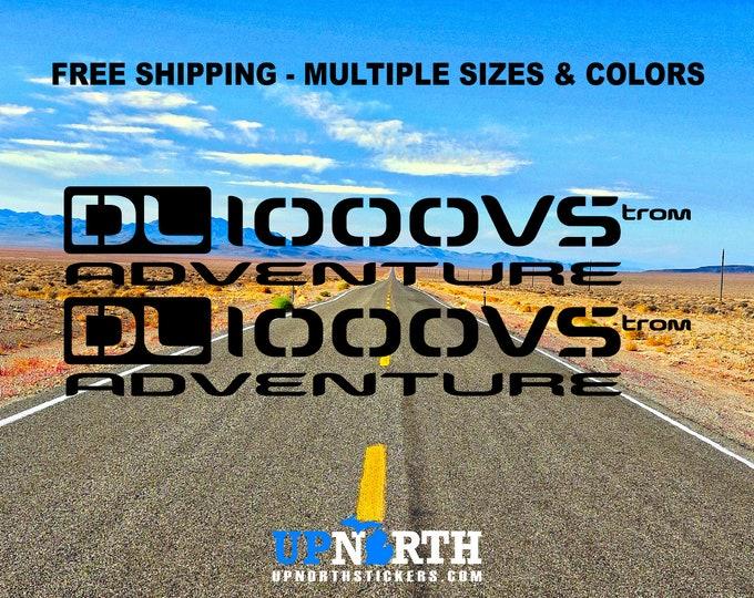 Vinyl Decals - Suzuki Vstrom DL650VS or DL1000VS -  Adventure Motorcycle - 2 DECALS - Free Shipping