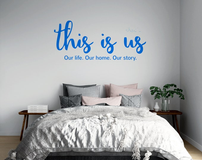 This is Us - Our Life - Our Home Our Story - Vinyl Wall Decal - Multiple Sizes and Colors - Personalize for Free