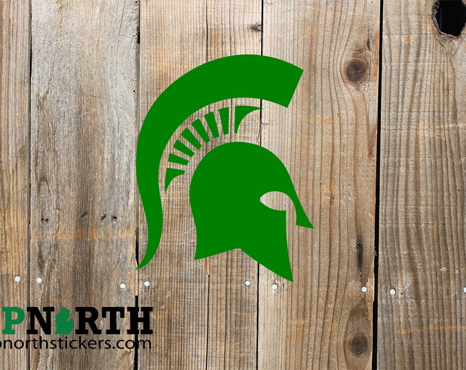 Spartan Helmet - Vehicle or Wall Vinyl Decal - Multiple Sizes and Colors - Personalize for Free - Free Shipping