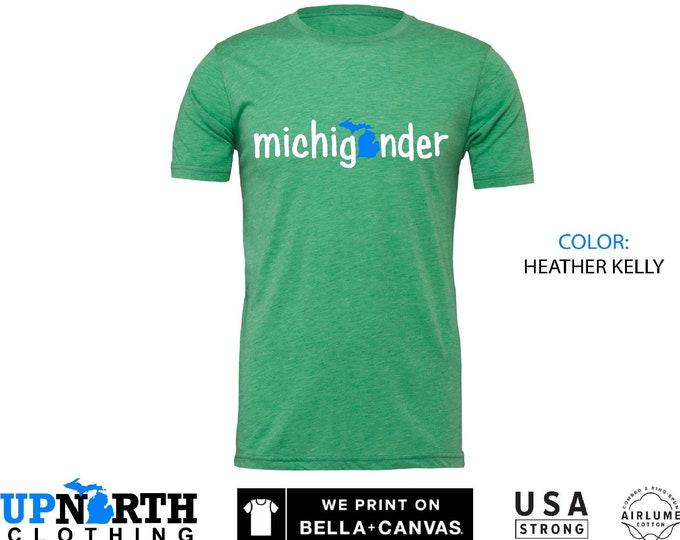 UpNorth Tee - Michigander - Michigan Shirt - Mitten T-Shirt - Free Shipping