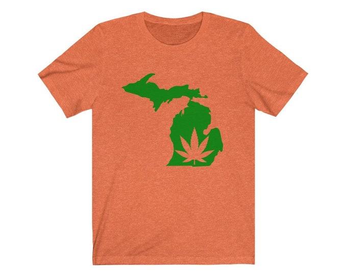 UpNorth Tee - Marijuana Mitten (Michigan Marijauna Collection)