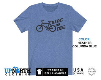 UpNorth Tee - Bicycle - Ride or Die (Vintage Black Print) T-Shirt - Free Shipping
