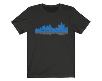 UpNorth Tee - Detroit Skyline (gray/blue) - Detroit Michigan