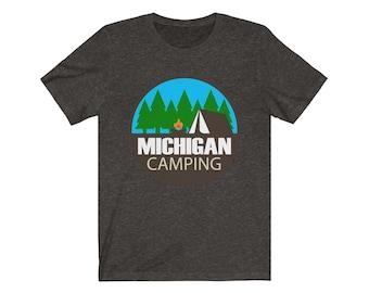 UpNorth Tee - MICHIGAN CAMPING (circle) - Michigan Camping T-shirt