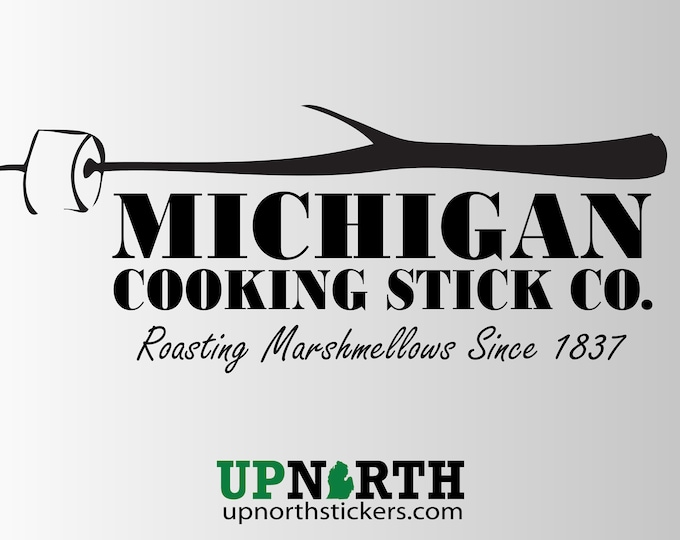 Michigan Cooking Stick Company - Vinyl Decal - Personalized Options - Multiple Sizes and Colors