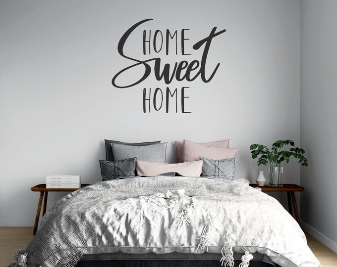 Home Sweet Home - Custom Vinyl Wall Decal - Multiple Sizes and Colors -  Free Shipping