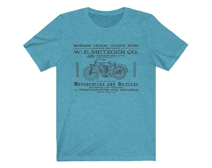 UpNorth Tee - W.E. Metzger Bicycles - Bicycle Shop Downtown Detroit  (Vintage Detroit Collection)