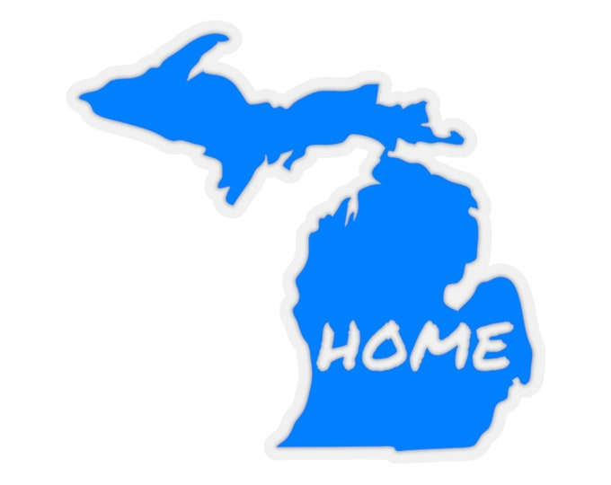 Stickers - Michigan Home (light blue) - 4 Sizes