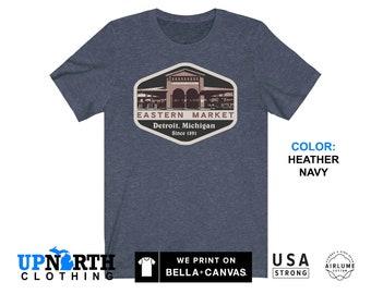 UpNorth Tee - Eastern Market - Detroit Michigan Shirt - Detroit Farmers Market - Free Shipping